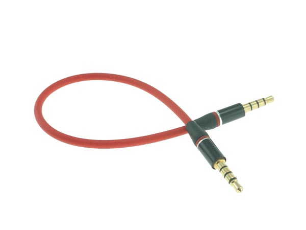 Red Flexible 3.5mm Car Stereo Auxiliary Male to Male Input Cable (Compatible with iPhone, CellPhone)