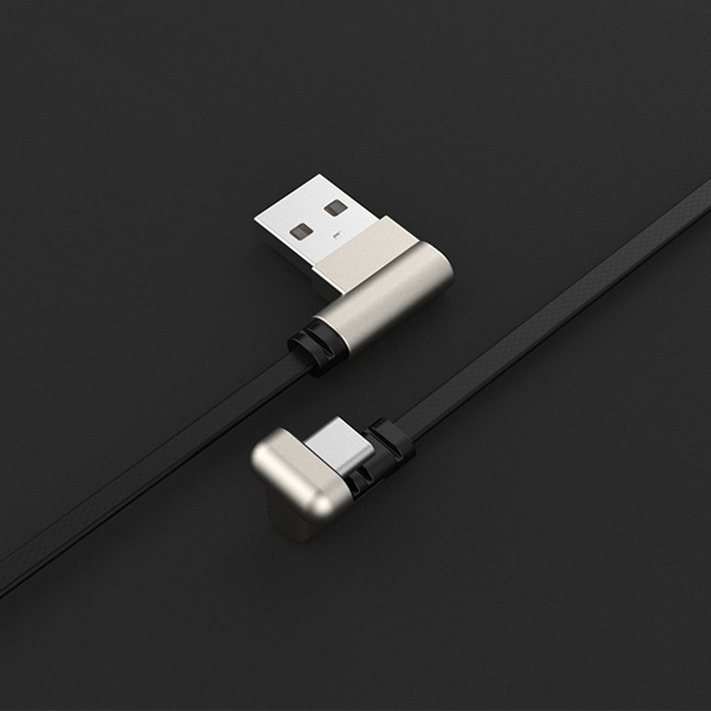 U-Shaped 180° Angled Gaming USB to USB-C / USB-Type-C Charging Cable for Smartphone Game Lovers