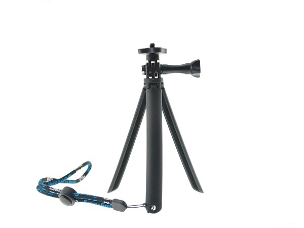 Low Ground Level Light Weight Tripod Grip with Wrist Strap for DC / DSLR / Camera / GoPro Hero 3