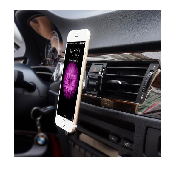 Strong Firm Magnetic Air Vent Car Mount for iPhone, GPS and Smartphones
