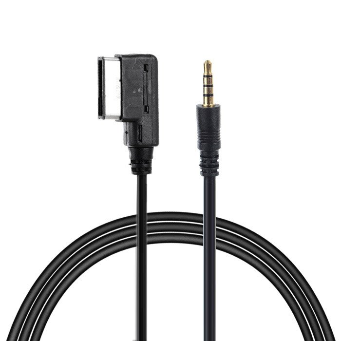 1m Media In AMI MDI to Stereo 3.5mm Audio Aux Adapter Cable For Car VW AUDI 2014 A4 A6 Q5 Q7 iPhone