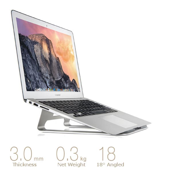 Samdi Stainless Steel Computer (Notebook, Laptop, Macbook) Stand / Cabinet