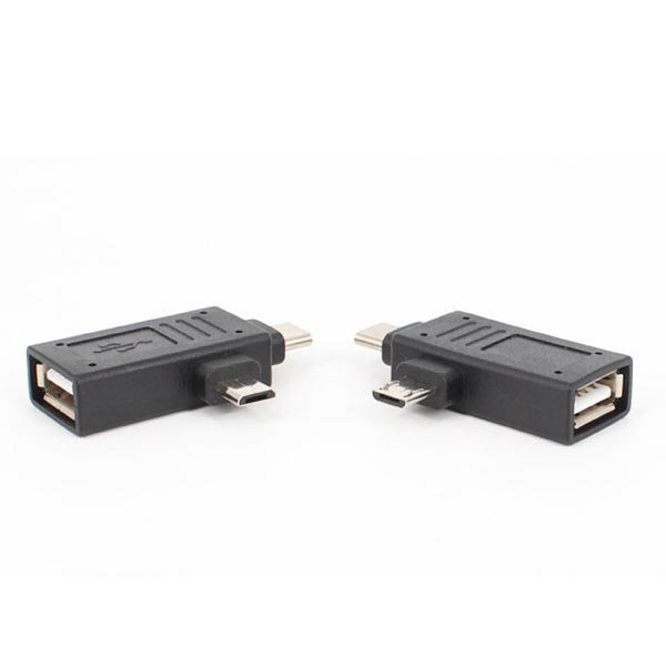 2 in 1 USB Type-C (USB 3.1 / USB-C) and Micro USB OTG Adapter for Smartphone / Macbook / Tablet