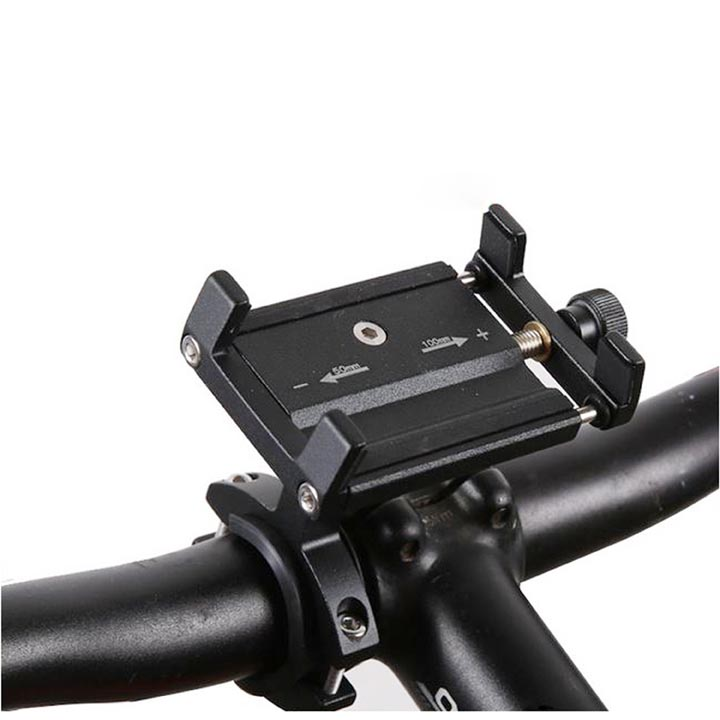 Universal Aluminum Non-Skid Bicycle Motorcycle Handlebar Mount Phone Holder iPhone / Smart Phones