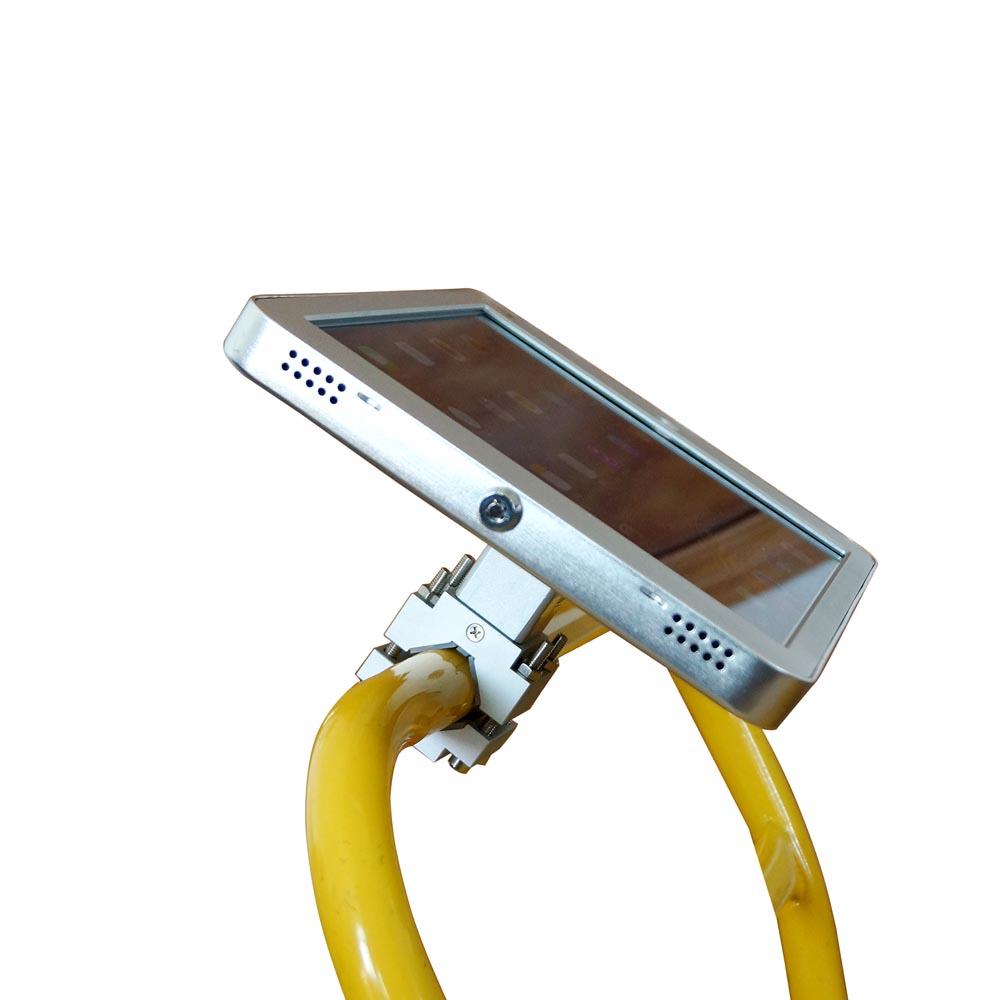 Wheelchair Rail / Tube / Pole Clamp Mount with 360 deg Rotation Security Lock for iPad Mini 1-5