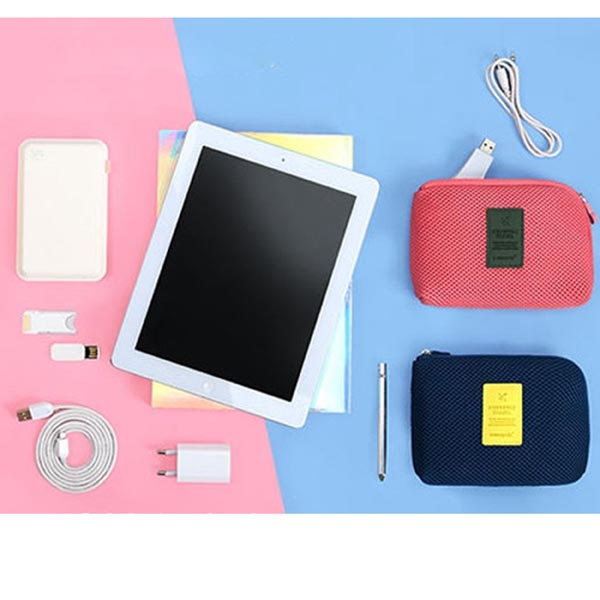 Slim Protective Soft Neoprene Carrying Case / Bags for Cable / Chargers / Power Banks / Earphones(L)