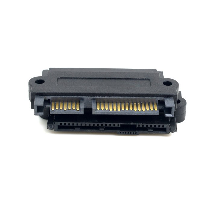 SFF-8642 SAS 22 Pin to 7 Pin + 15 Pin SATA Hard Disk Drive Raid Adapter with 15 Pin Power Port