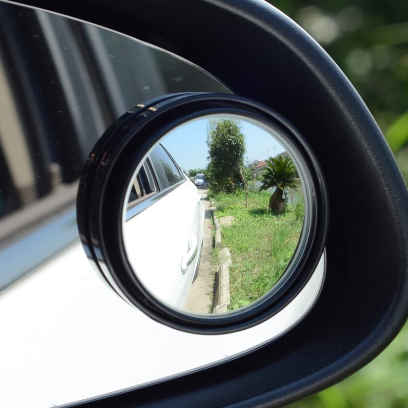 Side Wide Angle 3-inch (75mm Ultra Large) Round Convex Vehicle Blind Spot Mirror (Rear View Mirror)