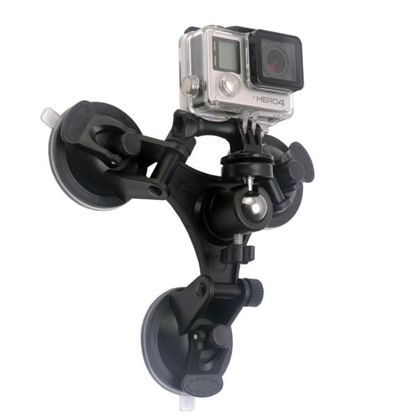 Super Strong Windshield Mount for GoPro / HD Action Cameras / Cameras / GPS / Car Black Box