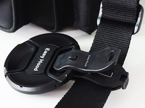 Universal Lens Cap Holder for Canon Sony Nikon Tamron Olympus Sigma SLR Cameras / Lenses