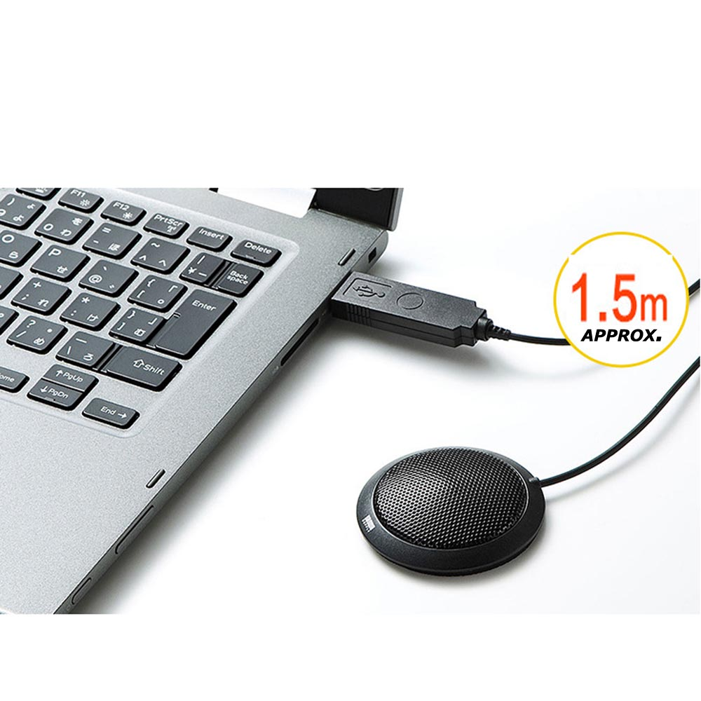 USB Microphone for Computer Desktop with 360° / Long Pick up Range for PC / Windows & Mac / iOS