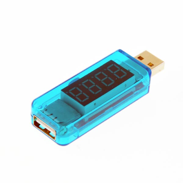 USB Voltage / Current LED Monitoring Meter (USB Male to Female Design)