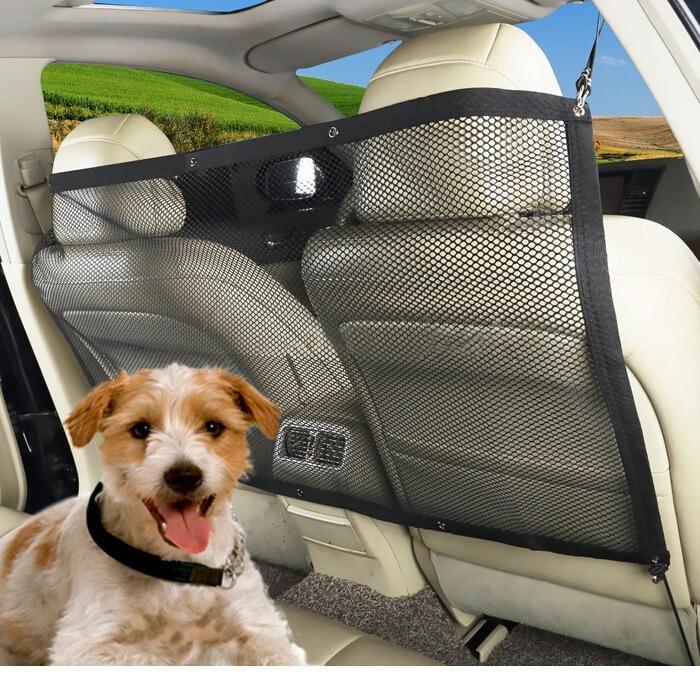 Car Pet, Kid Barrier / Vehicle Backseat Mesh / Universal Elastic Safety Seat Net / Disturb Stopper