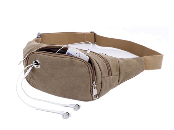 "Waist Bag with Adustable Belt (5.0"" H x 3.0"" T x 9.0"" W) for iPhone / Smartphone / Sport)"