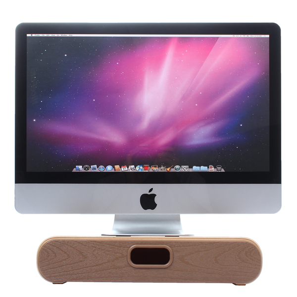 iMac Computer Monitor Stand with Drawer Dock Holder / Wooden Bracket